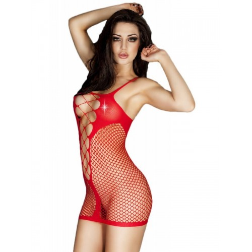 Chilirose Red Seamless Minidress