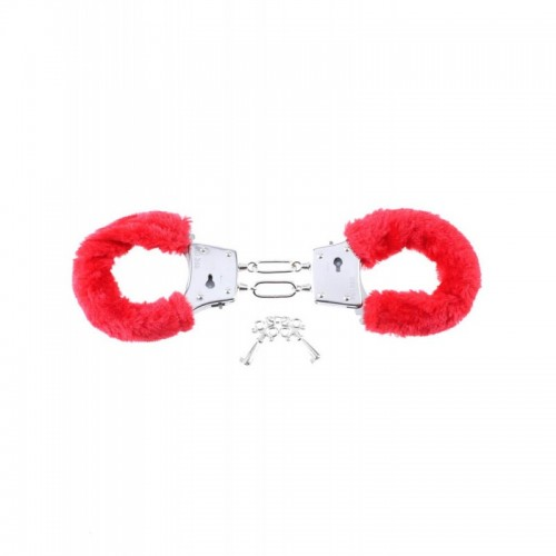 Beginners Furry Cuffs Red