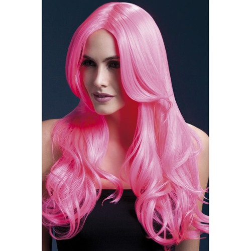 Fever Pink Curled Long Wig
