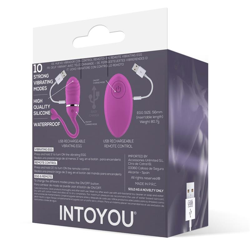 Intoyou Odise Remote Vibrating Egg Pink