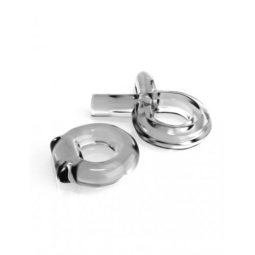 Classix Couples Cock Ring Set - Clear