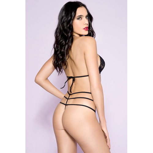 Lace Halterneck Body With Straps