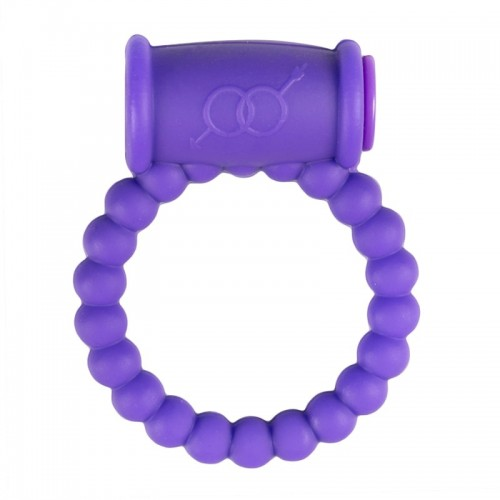 Cock Ring With Vibe Purple