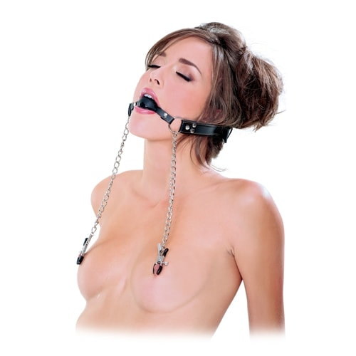 Ball Gag and Nipple Clamps